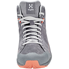 Haglöfs W's Roc Lite Mid Shoes Magnetite/Coral Pink